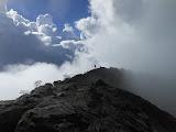 Hikers on Ciremai crater rim (Dan Quinn, April 2013)