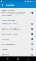 Screenshot of Foot Info Marseille