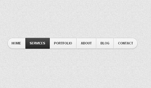 Menú de navegación con botones HTML5 _ CSS3