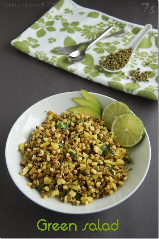 Green gram and green mango salad pic1