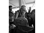His Holiness the Dalai Lama blessing an elderly nun at the end of a long day of teachings in Mundgod, India. <em>© Rio Helmi</em>