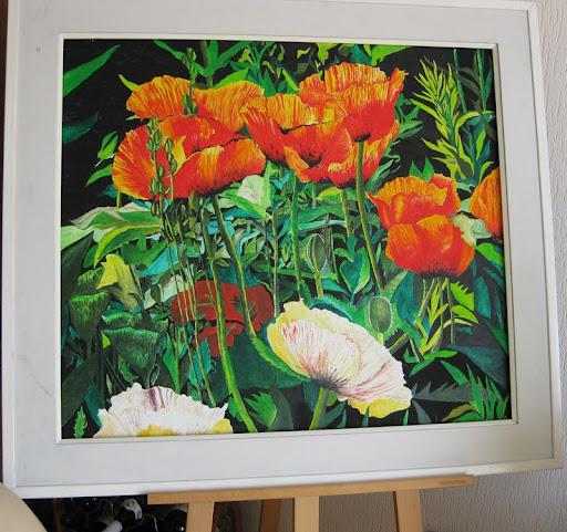 vrolijke bloemschilderijen in