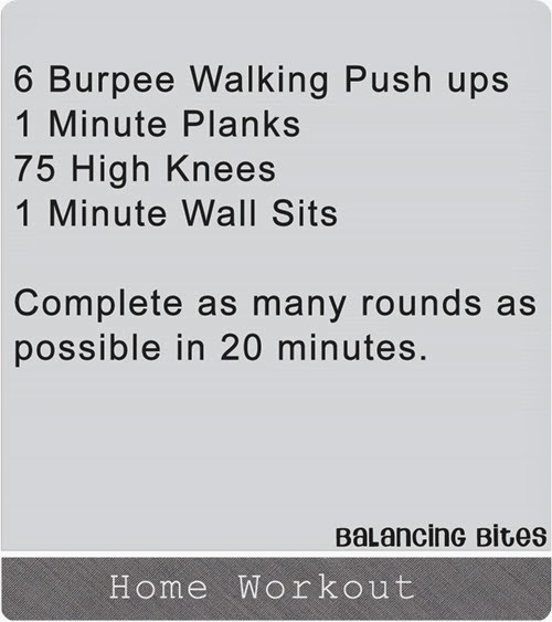 Balancing Bites - Home Workout