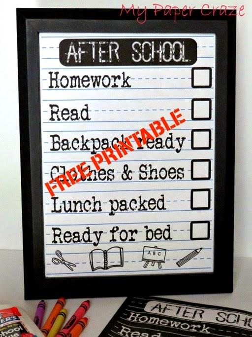 back to school checklist printable