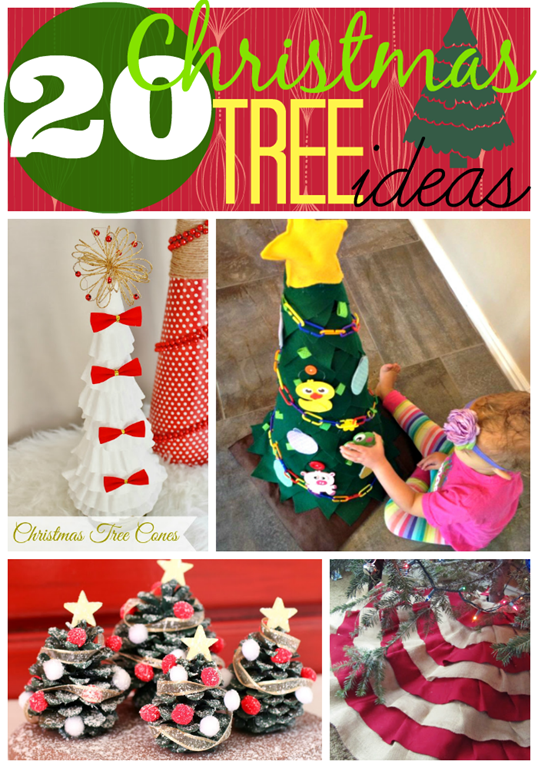 20 Christmas Tree Ideas at GingerSnapCrafts.com #linkparty #features #Christmas #trees