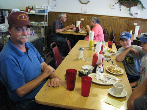 Locals have breakfast at the Corner Cafe on Main Street in Cabool.