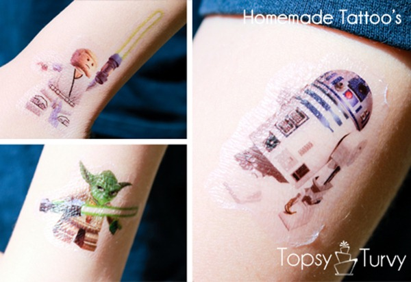 star wars homemade tattoos