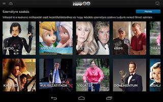 Screenshot of HBO GO Hungary