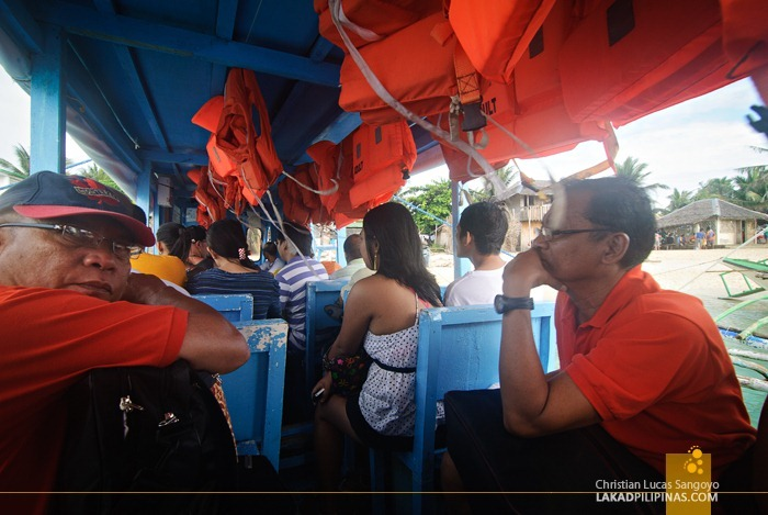 Outrigger Boats Plying the Boracay - Tabon Route