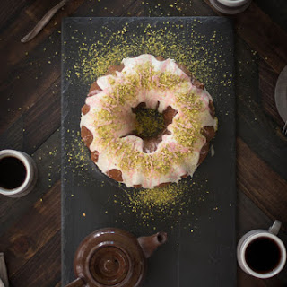 Pistachio and Blood Orange Bundt Cake