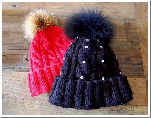 ALPINE ANGEL BEANIES RED AND BLACK