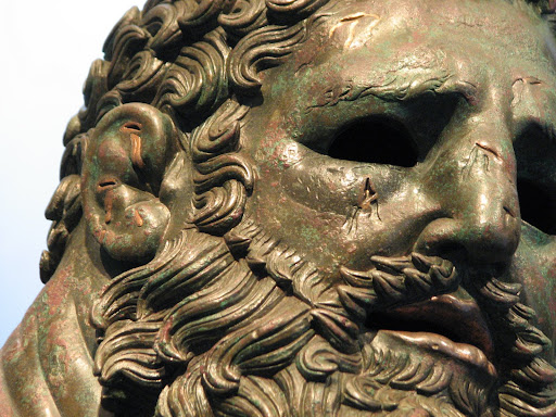 Boxer of Quirinal, close-up