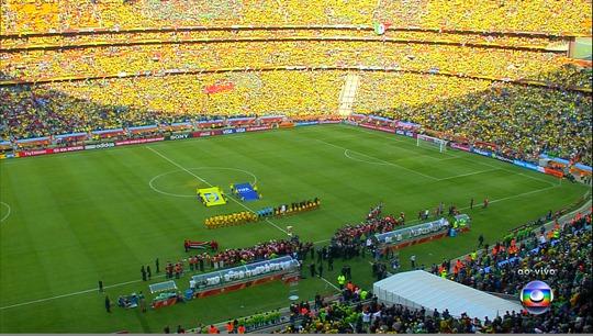 Copa do Mundo da África em 2010 - Foto: Reprodução/TV Globo