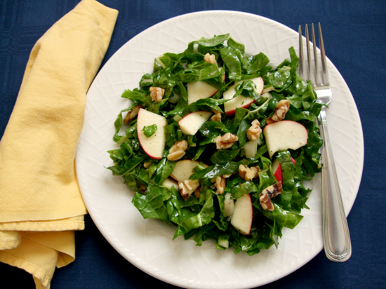 raw chard salad