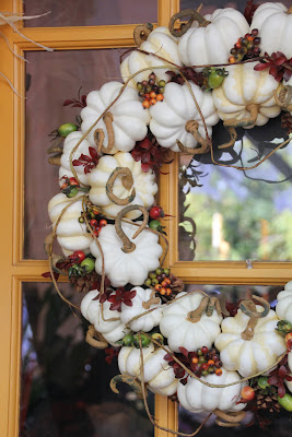 FAUX PUMPKIN WREATH