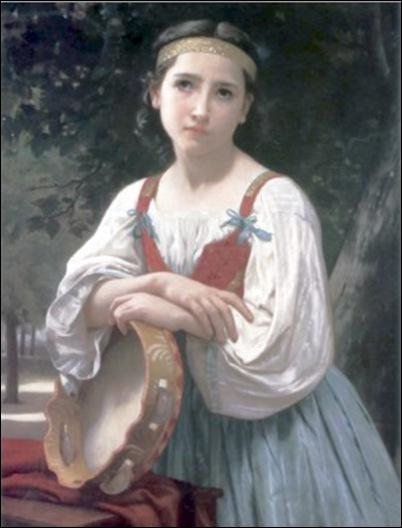 Bouguereau, Bohemienne au tambour