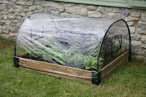 Raised Bed Polythene Weather Protection Cover - with base and frame