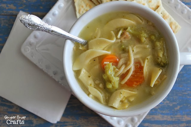 chicken noodle soup recipe at GingerSnapCrafts.com #recipe