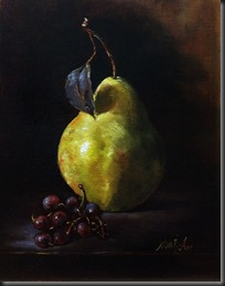 Pear with grapes 8x10