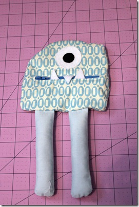 Zipper Mouthed Munster sewing tutorial