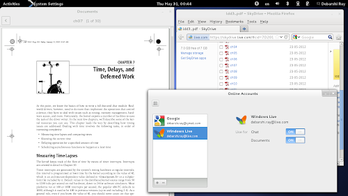 GNOME 3.6 -  Microsoft SkyDrive