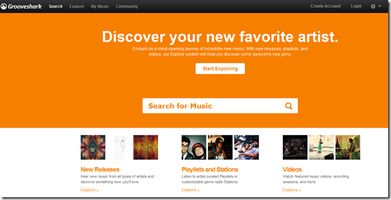 Grooveshark : Listen Music Online in Different ways