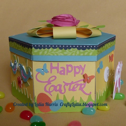 box happy easter sentiment from Artiste Cricut cartridge from CTMH