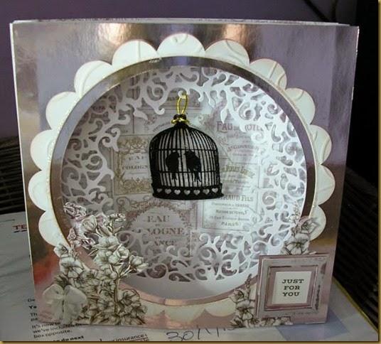 bird cage card Sue Dyer