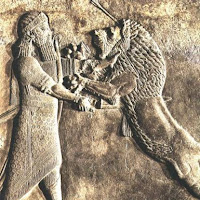 18.- Relieves de Horsabad. Sargón cazando