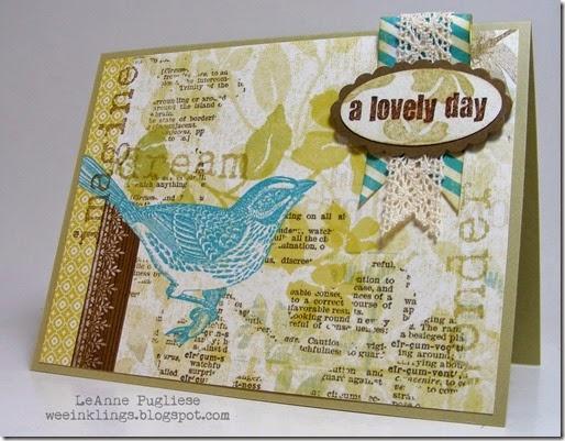 LeAnne Pugliese WeeInklings Skylark Lovely Day Card Stampin