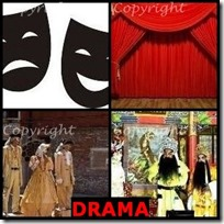 DRAMA- 4 Pics 1 Word Answers 3 Letters
