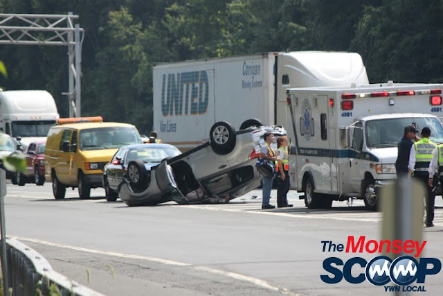 Overturned Vehicle On NYS Thruway  Near Toll Plaza (Moshe Lichtenstein) - IMG_5789.JPG