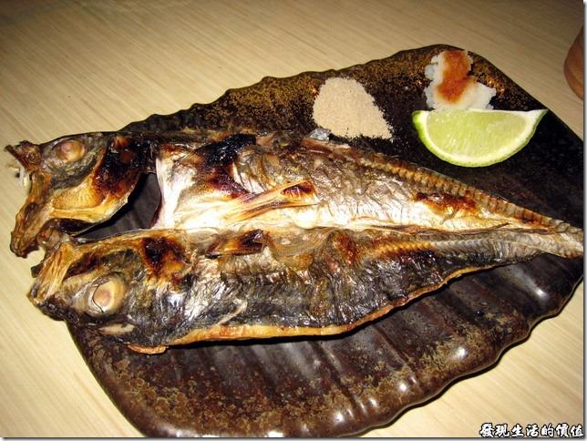 十九酒食居酒屋。今天吃到的竹筴魚一夜干似乎有點給它硬啊!肉質硬梆梆的,幾個大男生也沒有把它啃完,不知道這樣算不算是道成功的料理!