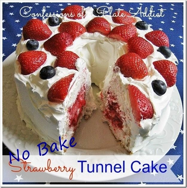 CONFESSIONS OF A PLATE ADDICT Easy No Bake Strawberry Tunnel Cake