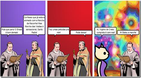 Witty Comics   O papa desbocado e a marcha das vadias