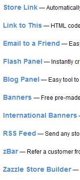 zazzle promo tools