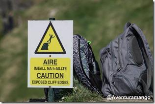 Alerta de segurança no Cliffs of Moher