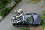 Gudrun with bikes