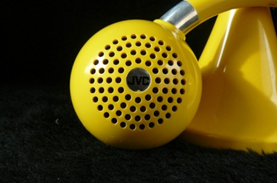 JVC model 8008 radio, yellow