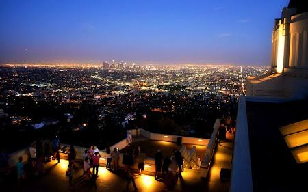 Imagini Los Angeles: Downtown LA vazut dinspre Observatorul Griffith - de data asta noaptea