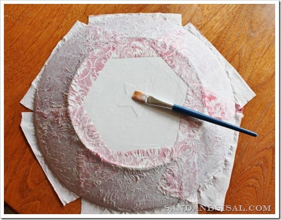 Mod podge over napkins