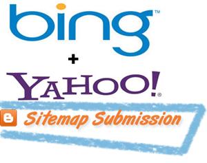 bing yahoo blogger sitemap