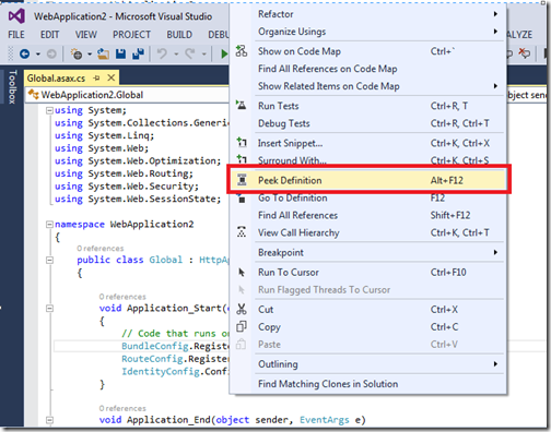 PeekDefinitionVisualStudio2013