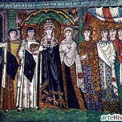 40 - Mosaico de Teodora y su sequito en San Vital de Ravena