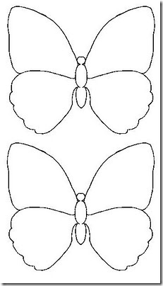 Moldes Mariposa Para Foamy O Fieltro  Moldes Mariposas En Goma Eva