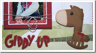 cricut horse giddy up layout idea-500