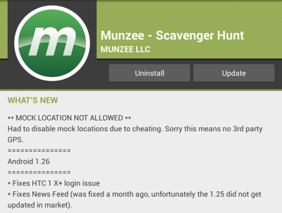 Munzee version 1.26 for Android