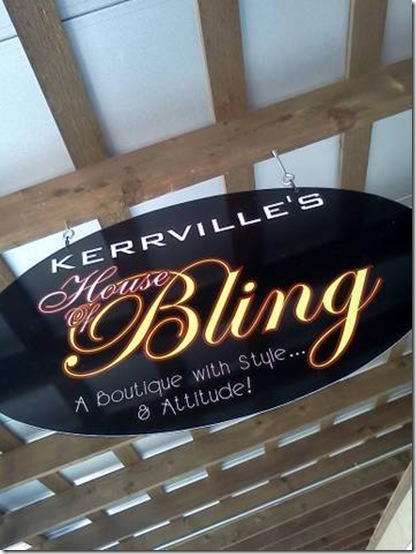 House of Bling sign