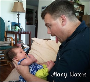Many Waters Dad with baby