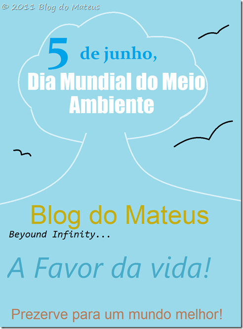 Blog do Mateus no Dia Mundial do Meio Ambiente
